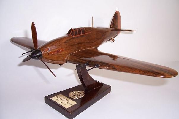 Hawker Hurricane Mk IIC wooden airplane model