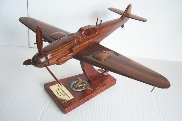 Messerschmitt ME 109 G wooden aircraft model
