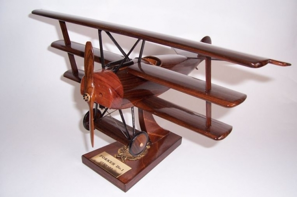 Fokker Dr.I Dreidecker (triplane) wooden aircraft modele