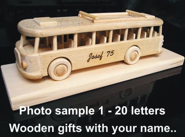 1 - 20 letters. Order engraving for your choosen toys.