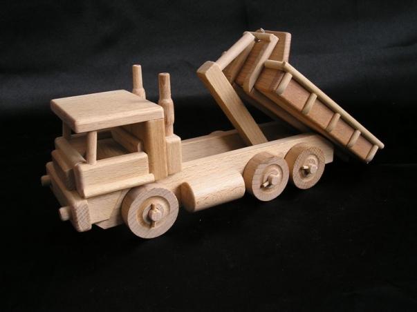 Children's truck, wooden toy