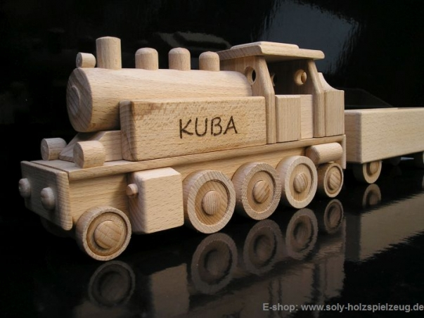 Steam locomotive DR type, wooden toys gift