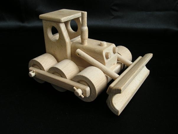 Holzbagger Bobik Spielzeug aus HOlz
