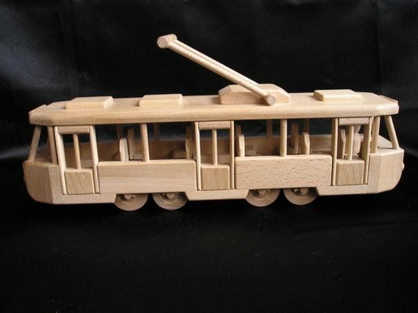 Moderne Straßenbahn Spielzeug.