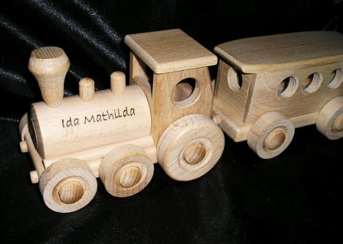 Passenger train wooden toys