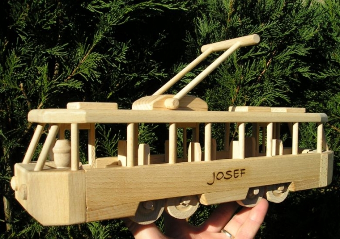 Tramway wooden toy