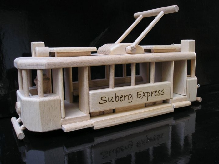 Historical tramway toy