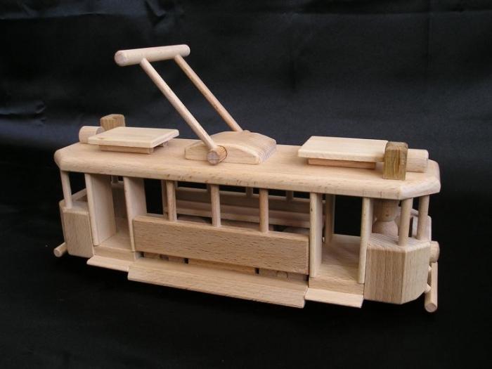 De tram speelgoed