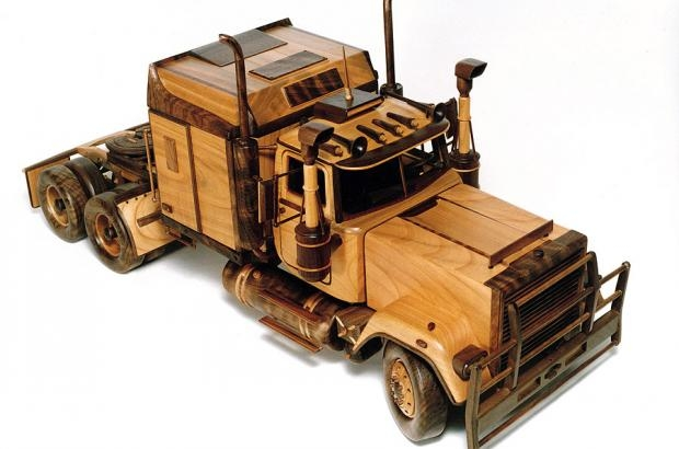 Wooden Toy Cars And Trucks : Mack truck with semitrailer australian type wooden