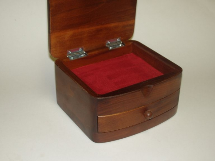 Custom made wooden jewelry boxes - lovely