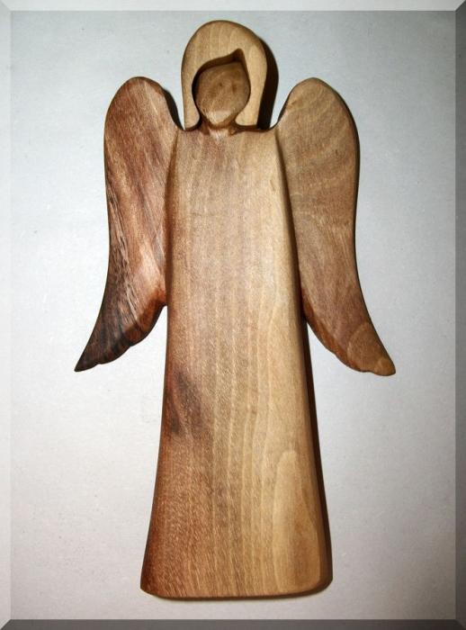 Angel statue, walnut wood