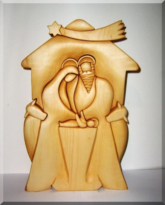 Bethlehem wood sculpture