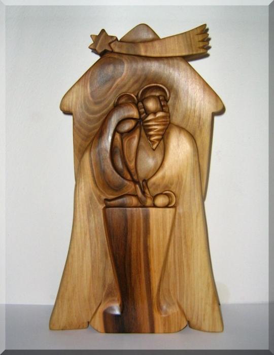 Bethlehem wooden sculpture