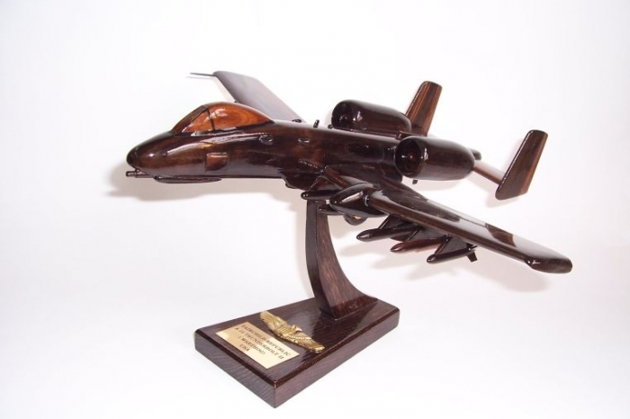 Wooden aircraft model A-10 Thunderbolt II
