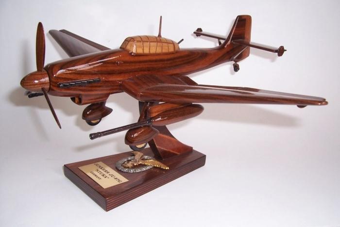 Dive bomber Junkers Ju 87 or Stuka - wooden model