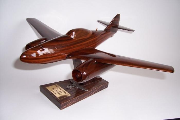 Wooden replica Messerschmitt Me 262 Schwalbe