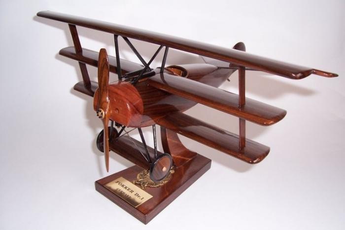 Wooden aircraft replica Fokker Dr.I