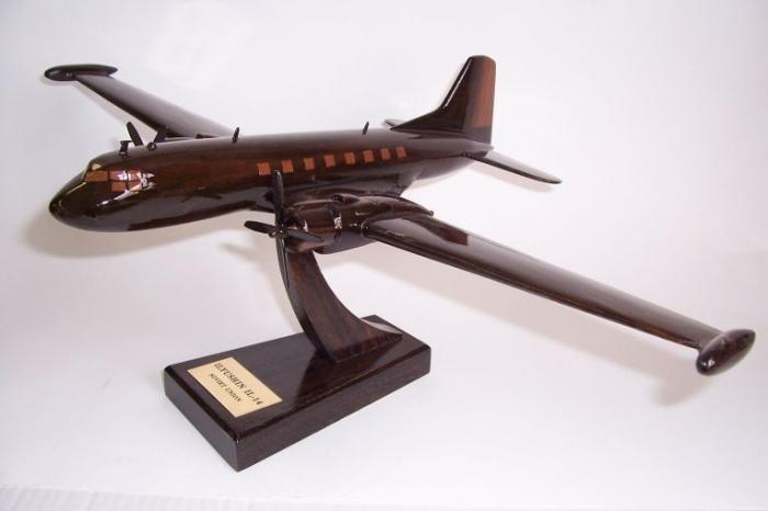 The wooden model of Ilyushin Il-14