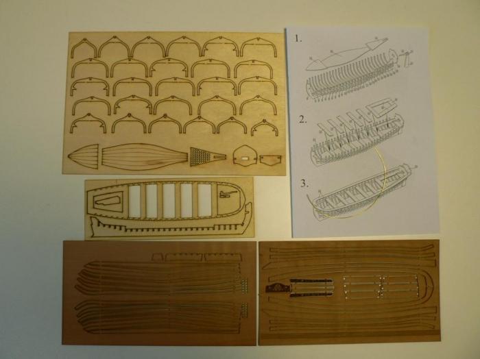 Wooden ships boat 165 mm