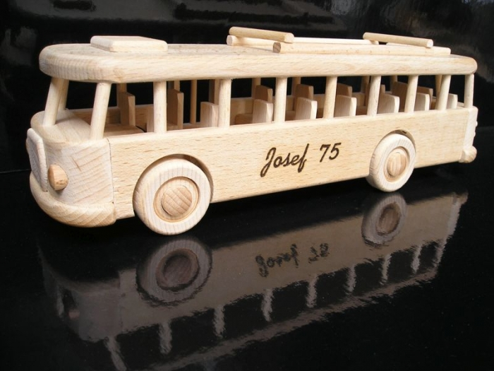 Bus wooden toys with a name buses