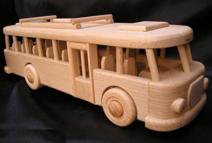 Bus 100% wooden toy | autobus,