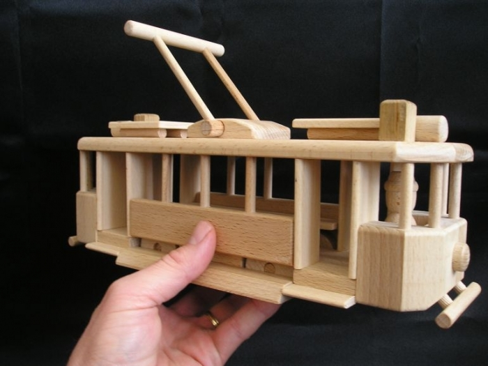 Wooden gifts for tram drivers