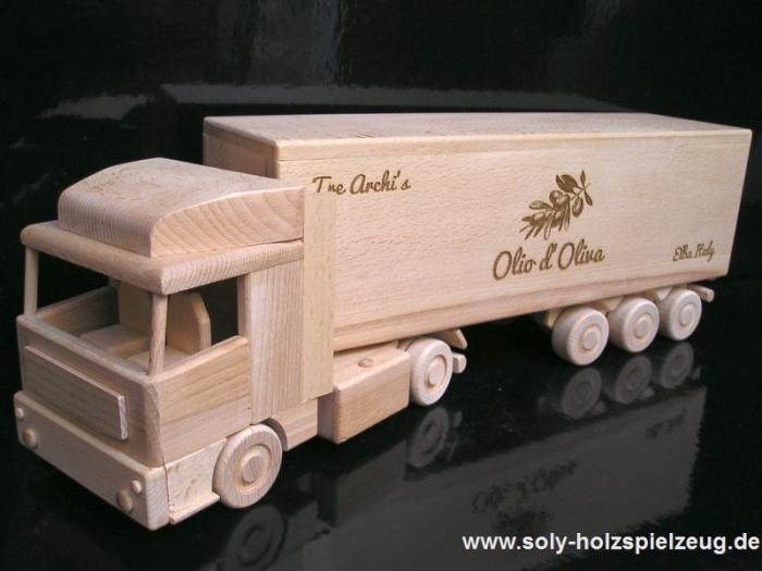 Laser engraving wine truck