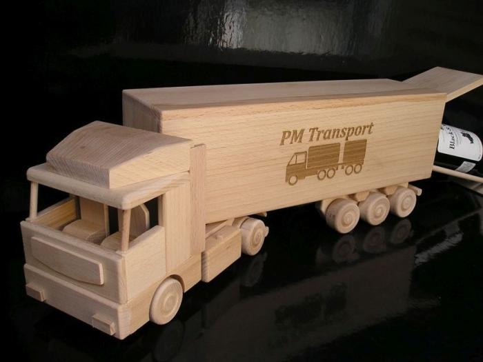 Geschenken-vrachtwagens
