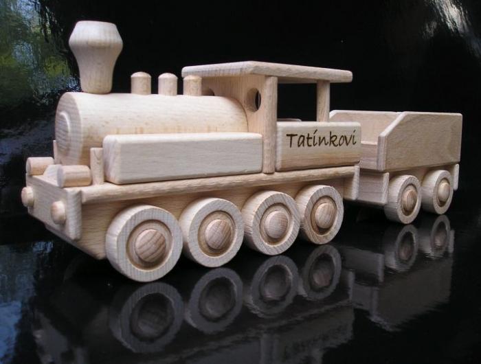 wooden locomotive railway toy
