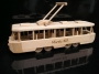Modern tramway wooden toy