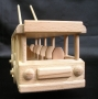 Wooden trolleybus toy