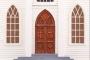Wooden model of church Saint Teresa of Avila, Bodega, California, USA
