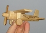 Wooden airplane with engraved name