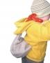 Baťůžek pro děti s kostičkami na skládání.