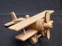 Wooden airpane toy - biplane