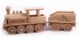 Wooden locomotive railway